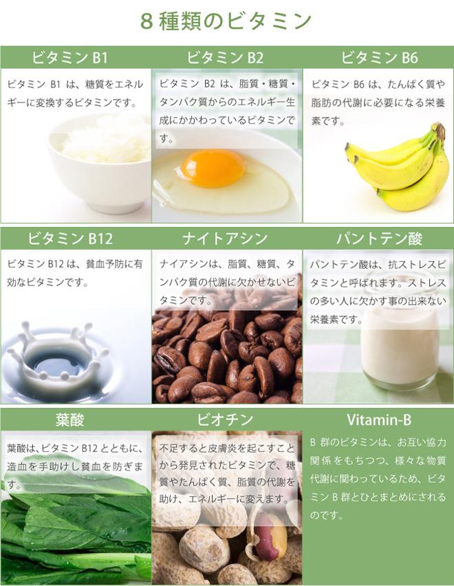 8種類のビタミン