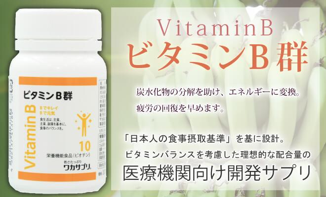 ビタミンB群 日本人の食事摂取基準を基に設計。ビタミンバランスを考慮した理想的な配合量